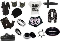 I'd wear this minus the crosses