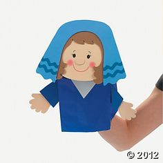 ideas for making paper bag puppet nativity