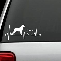 """Rottweiler """"HeartBeat"""" Exclusive Design Decal"""