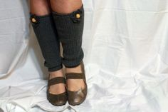 Leg Warner's made from old sweater sleeves. Can wear under boots or oth flats.