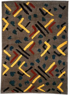 Pattern design by Omega Workshop.  Reproduced by Christopher Farr as a Rug design.