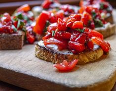 Balsamic Roasted Red Pepper Bruschetta