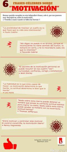 6 frases célebres sobre motivación #infografia #infographic #citas #quotes | Frases y citas celebres