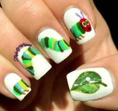 30 Cute Animal Nails Design Ideas of Spring 2020 - Betherelove Animal Nail Designs, Animal Nail Art, Cute Nail Designs, School Nail Art, Back To School Nails, Fancy Nails, Cute Nails, Pretty Nails, Hair And Nails
