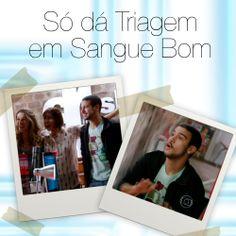Triagem Jeans na novela Sangue Bom.