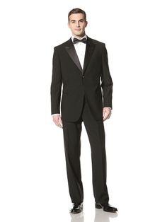 60% OFF Giorgio Armani Men\'s Peaked Lapel Tuxedo (Black)