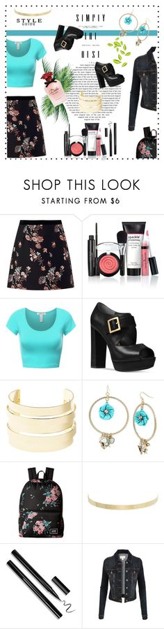 """First Day of College"" by lyric0ne ❤ liked on Polyvore featuring Miss Selfridge, Laura Geller, Michael Kors, Charlotte Russe, Betsey Johnson, Vans, Kenneth Jay Lane, LE3NO and Dolce&Gabbana"