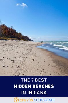 Some of the most beautiful beaches in Indiana are hidden away. Discover 7 of our favorite sandy shores, from the Dunes at Lake Michigan to Fox Island County Park. | Outdoors | Nature | Things To Do | Family And Kid Friendly | Summer Bucket List