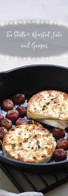 Roasted Feta and Grapes Dinner Party Appetizers, Bite Size Appetizers, Appetizer Salads, I Love Food, Good Food, Yummy Food, English Food, English Recipes, Xmas Food