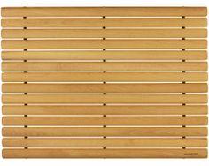 Badematte Holz aus Buchenholz. Mit ovalen Stäben für eine angenehme Trittfläche. In zwei Größen erhältlich.
