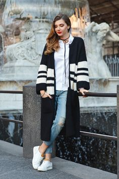 EXTRA 25%OFF! Black Friday Super SALE! Comfort of Your Roam Longline Cardigan in Black featured by Larisacostea Blog