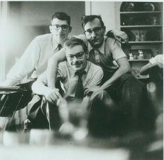 Ginsberg, Burroughs, Carr, 1953 Clique na foto para garantir livros da Beat Generation.
