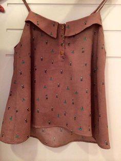Resultado de imagem para blusa de alcinha com babado na manga
