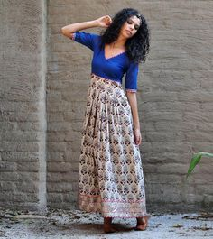 Our classic Royal blue paisley print gown is crafted in cotton fabric that is block printed using all natural dyes. It features a fitted torso and a box pl Printed Gowns, Work Sarees, Pleated Maxi, Indian Ethnic, Paisley Print, Indian Wear, Asian Woman, Royal Blue, Dress Up