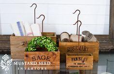 Wooden Crates | Indoor Herb Garden | Crates
