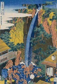 Hokusai - Roben Waterfall at Ohyama - Fine Art Print