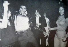 Michael Jackson and sister LaToya Jackson at Studio 54 ~ August, 1977