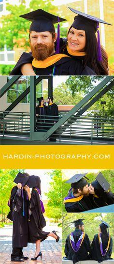 Graduation Photos | Senior Pics | Couple Graduation Photo | Tarleton State University | Stephenville Texas | Hardin Photography | hardin-photography.com