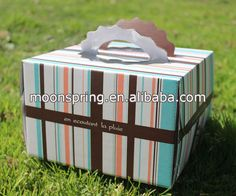 Customized wedding cake box wholesale with window and handle