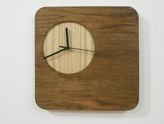 Wooden Simply Square Wood Wall Clock by SolPixieDust on Etsy