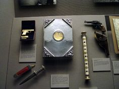 Personal items owned by Generalfeldmarschall Hermann Goering, now at the West Point Museum.