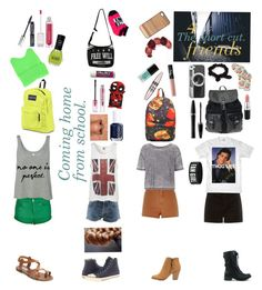 """""""The short cut"""" by missoutcast ❤ liked on Polyvore featuring HOT SOX, NLY Accessories, Mary Kay, Casetify, River Island, Charlotte Russe, NARS Cosmetics, Maybelline, Topshop and Crown and Glory"""