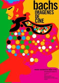 Poster art for Imagenes de Cine, Cuba, 2007, by Eduardo Muñoz Bachs.