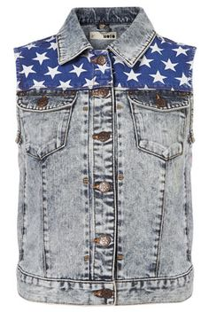 MOTO Acid Flag Sleeveless Biker Jacket ($20-50) - Svpply