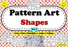 Pop Art Pattern Shapes Set 2