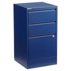 Bisley® 3-Drawer File Cabinet Oxford Blue