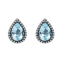 Gyémánt és topáz fehér arany fülbevaló Gemstone Rings, Dragon, Gemstones, Jewelry, Jewlery, Gems, Jewerly, Schmuck, Dragons