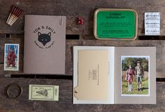 Tom + Emily's Moonrise Kingdom Inspired Wedding Invitations. This is amazing. I would have loved to have attended the wedding. What wonderfully cool memories they'll be able to look back on.