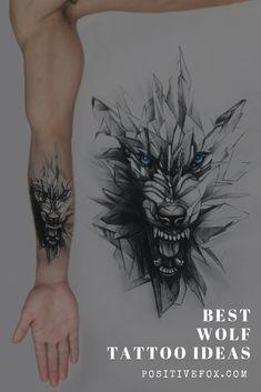 Best Wolf Tattoo Ideas – Wolf Tattoo Design Ideas with Meaning - Tattoo Designs Men Face Tattoos For Women, Wolf Tattoos Men, Strong Tattoos, Tattoo Quotes For Women, Tattoos Arm Mann, Cool Tattoos For Guys, Trendy Tattoos, New Tattoos, Wolf Pack Tattoo
