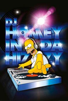 Poster SIMPSON - DJ Homey - http://rockagogo.com