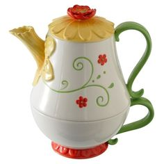 Petals Spring Daffodil Stacked Tea for One Ceramic Teapot & Cup Grasslands Road | eBay