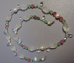 """Vintage 1960s Austrian Crystal Necklace 25"""" Long Clear 99272cf8146"""