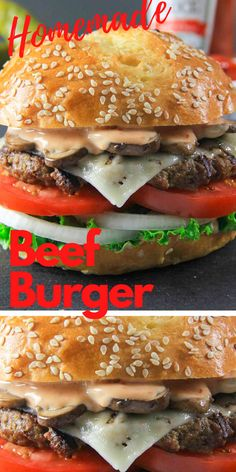 This homemade beef patty recipe is so easy and delicious! The beef burger patties are so juicy and bursting with flavor. #simplyhomecooked #beef #beefpatty #homemadebeefburger #burger #patties