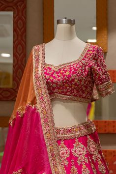 Raw Silk Lehenga, Pink Lehenga, Bridal Lehenga Choli, Lace Border, Beautiful Hands, Sari, Women, Fashion, Saree