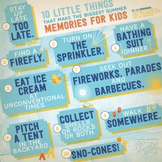 10 little things that make the biggest summer memories for kids, most of them free. #passionproject