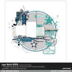Layer Works No. 939- Studio Double-D Templates- LT530720- DesignerDigitals