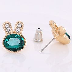 Get Amazing and Lovable #CZ Rabbit #Earring for your cheerful life.