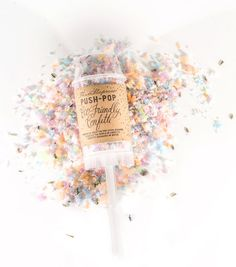Push-Pop Eco-Friendly Confetti by thimblepress on Etsy Wedding Favors, Wedding Reception, Wedding Ideas, Push Pop Confetti, Plastic Pop, Eco Friendly Cleaning Products, Lavender Buds, White Elephant Gifts, Etsy