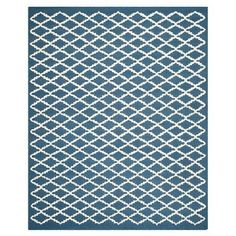 Amazon.com: Safavieh CAM137G Cambridge Collection Handmade Wool Area Rug, 8 by 10-Feet, Navy and Ivory: Home & Kitchen