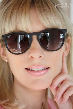 Ray-ban's sleek 'Erica' silhouette is a future classic* complete with a tortoiseshell printed frame and flattering brown lenses #Stylebop