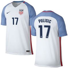 9d02af107 Christian Pulisic Home Replica Men's Jersey 2016 USA Soccer Team Olympic  Store, Olympic Team,