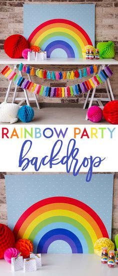 Rainbow Backdrop by Lindi Haws of Love The Day