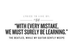 """I got: """"I look at the world and I notice it's turning while my guitar gently weeps""""! Which Beatles Lyric Best Represents Your Soul?"""