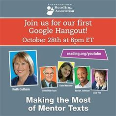 Send your greatest challenge in using mentor texts to social@reading.org by Oct. 10 and your issue might be addressed by our panel.