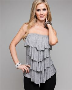 Perfect Comfy Gray Summer Top! love love love this!