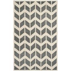 Safavieh Handmade Moroccan Chatham Dark Grey/ Ivory Wool Rug (6' x 9') $215
